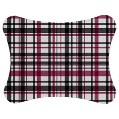 Plaid Pattern Jigsaw Puzzle Photo Stand (bow) by Valentinaart