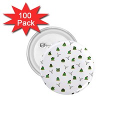 Cactus Pattern 1 75  Buttons (100 Pack)  by Valentinaart
