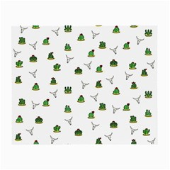 Cactus Pattern Small Glasses Cloth by Valentinaart