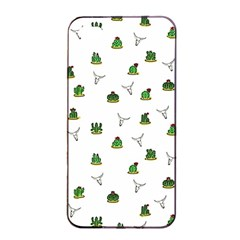 Cactus Pattern Apple Iphone 4/4s Seamless Case (black) by Valentinaart