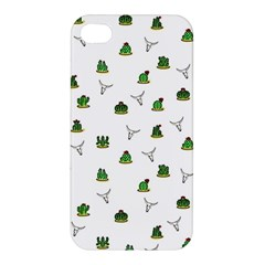 Cactus Pattern Apple Iphone 4/4s Hardshell Case by Valentinaart