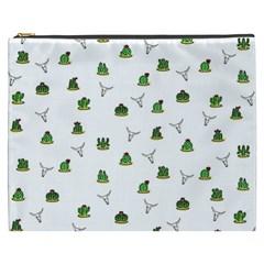 Cactus Pattern Cosmetic Bag (xxxl)  by Valentinaart