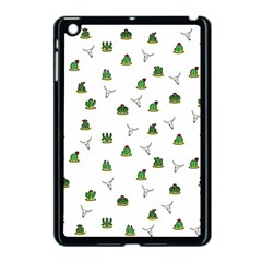Cactus Pattern Apple Ipad Mini Case (black) by Valentinaart