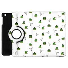 Cactus Pattern Apple Ipad Mini Flip 360 Case by Valentinaart