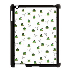 Cactus Pattern Apple Ipad 3/4 Case (black) by Valentinaart
