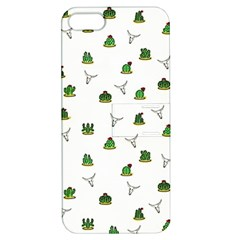 Cactus Pattern Apple Iphone 5 Hardshell Case With Stand by Valentinaart