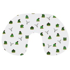 Cactus Pattern Travel Neck Pillows by Valentinaart