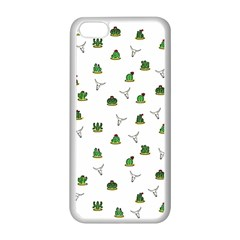 Cactus Pattern Apple Iphone 5c Seamless Case (white) by Valentinaart