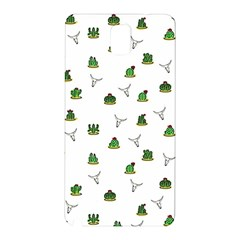 Cactus Pattern Samsung Galaxy Note 3 N9005 Hardshell Back Case by Valentinaart