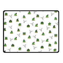Cactus Pattern Double Sided Fleece Blanket (small)  by Valentinaart