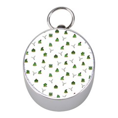 Cactus Pattern Mini Silver Compasses by Valentinaart