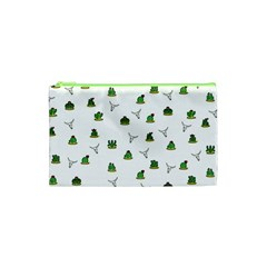 Cactus Pattern Cosmetic Bag (xs) by Valentinaart