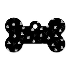 Cactus Pattern Dog Tag Bone (one Side) by Valentinaart