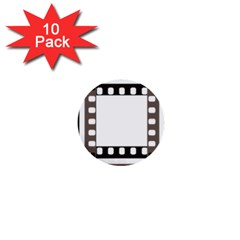 Frame Decorative Movie Cinema 1  Mini Buttons (10 Pack)  by Nexatart
