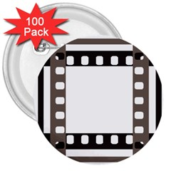 Frame Decorative Movie Cinema 3  Buttons (100 Pack)
