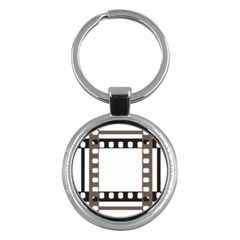 Frame Decorative Movie Cinema Key Chains (round)  by Nexatart