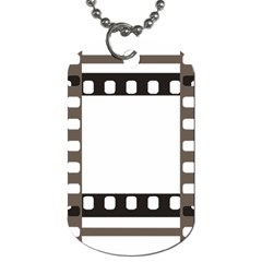 Frame Decorative Movie Cinema Dog Tag (one Side)