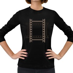 Frame Decorative Movie Cinema Women s Long Sleeve Dark T Shirts by Nexatart