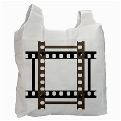 Frame Decorative Movie Cinema Recycle Bag (one Side) by Nexatart