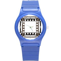 Frame Decorative Movie Cinema Round Plastic Sport Watch (s) by Nexatart