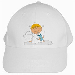 Angel Baby Bottle Cute Sweet White Cap by Nexatart