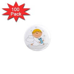Angel Baby Bottle Cute Sweet 1  Mini Magnets (100 Pack)  by Nexatart