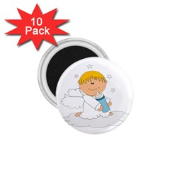 Angel Baby Bottle Cute Sweet 1 75  Magnets (10 Pack)
