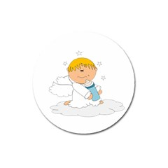 Angel Baby Bottle Cute Sweet Magnet 3  (round)