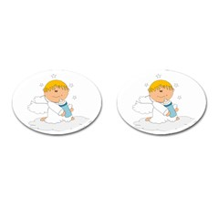 Angel Baby Bottle Cute Sweet Cufflinks (oval)