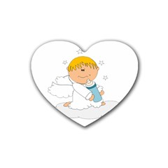 Angel Baby Bottle Cute Sweet Heart Coaster (4 Pack)