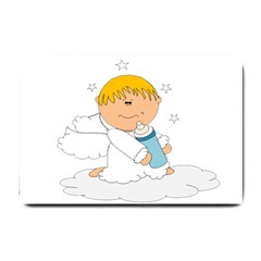 Angel Baby Bottle Cute Sweet Small Doormat  by Nexatart