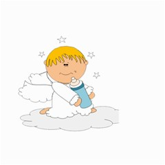 Angel Baby Bottle Cute Sweet Small Garden Flag (two Sides) by Nexatart