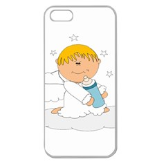 Angel Baby Bottle Cute Sweet Apple Seamless Iphone 5 Case (clear) by Nexatart