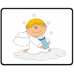 Angel Baby Bottle Cute Sweet Double Sided Fleece Blanket (medium)  by Nexatart