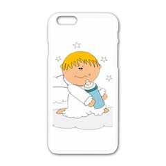 Angel Baby Bottle Cute Sweet Apple Iphone 6/6s White Enamel Case by Nexatart