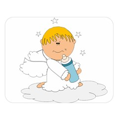 Angel Baby Bottle Cute Sweet Double Sided Flano Blanket (large)  by Nexatart