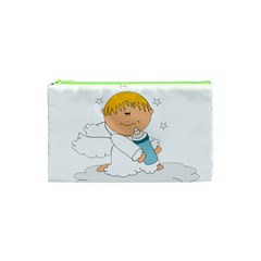 Angel Baby Bottle Cute Sweet Cosmetic Bag (xs) by Nexatart