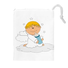Angel Baby Bottle Cute Sweet Drawstring Pouches (extra Large) by Nexatart