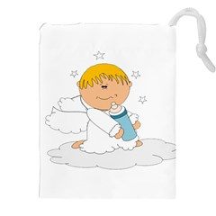 Angel Baby Bottle Cute Sweet Drawstring Pouches (xxl)