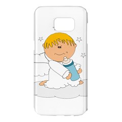 Angel Baby Bottle Cute Sweet Samsung Galaxy S7 Edge Hardshell Case by Nexatart