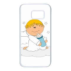 Angel Baby Bottle Cute Sweet Samsung Galaxy S7 White Seamless Case by Nexatart