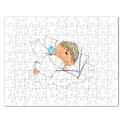 Sweet Dreams Angel Baby Cartoon Rectangular Jigsaw Puzzl by Nexatart
