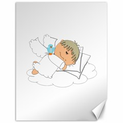 Sweet Dreams Angel Baby Cartoon Canvas 12  X 16   by Nexatart