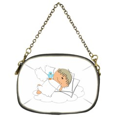 Sweet Dreams Angel Baby Cartoon Chain Purses (one Side)  by Nexatart