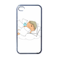 Sweet Dreams Angel Baby Cartoon Apple Iphone 4 Case (black) by Nexatart
