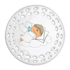 Sweet Dreams Angel Baby Cartoon Round Filigree Ornament (two Sides) by Nexatart