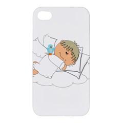Sweet Dreams Angel Baby Cartoon Apple Iphone 4/4s Premium Hardshell Case