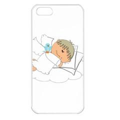 Sweet Dreams Angel Baby Cartoon Apple Iphone 5 Seamless Case (white) by Nexatart