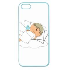 Sweet Dreams Angel Baby Cartoon Apple Seamless Iphone 5 Case (color) by Nexatart