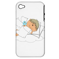 Sweet Dreams Angel Baby Cartoon Apple Iphone 4/4s Hardshell Case (pc+silicone) by Nexatart